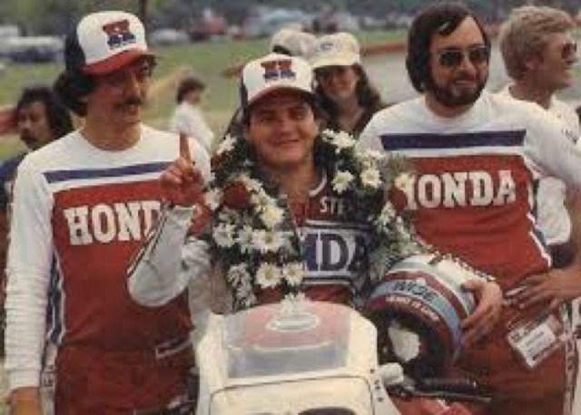 1983 Coaches Steve Wise for Honda race team. Steve was fearless