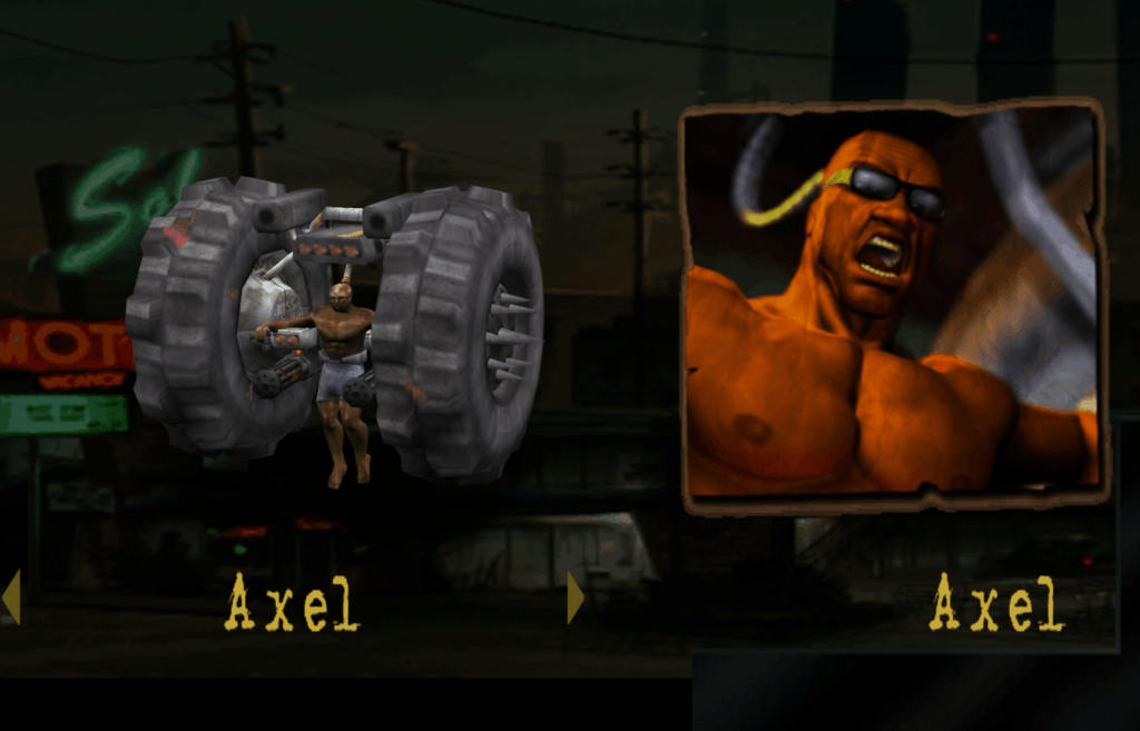 Black Characters With Metal Arms - Axel