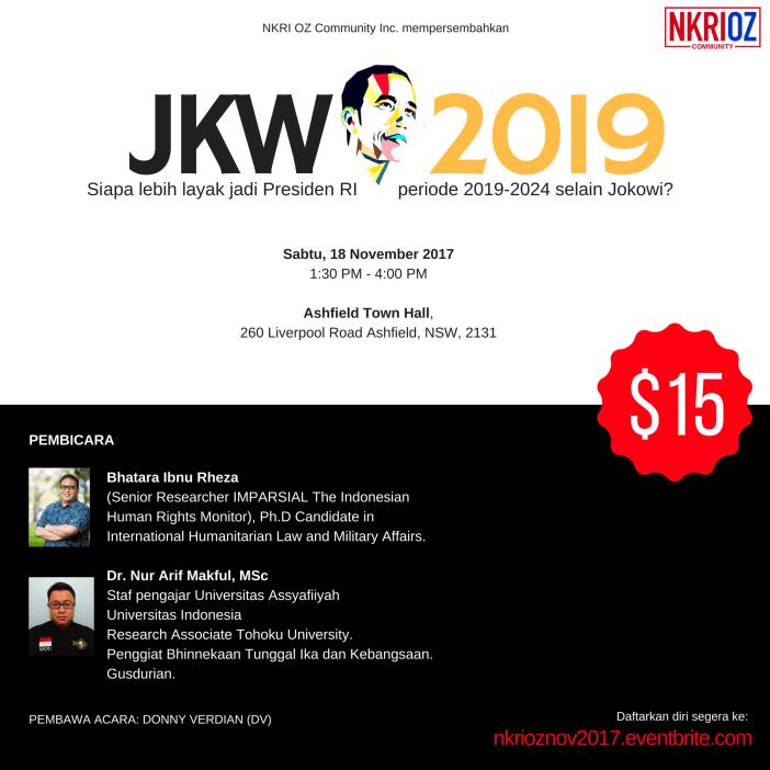 flyer acara diskusi kebangsaan jokowi 2019