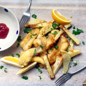 fast and easy fish and chips recipe for busy mums