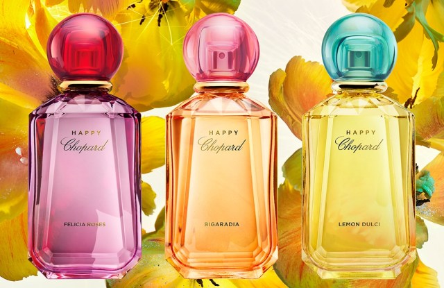 Happy Chopard fragrance collection: (from left) Felicia Roses, Bigaradia and Lemon Dulci.