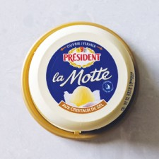 President La Motte sea salt butter