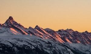 Miracle morning mountains at sunrise