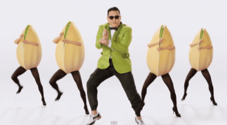 "Wonderful Pistachios 2013 Super Bowl XLVII ad ""crackin' gangam style with psy"""