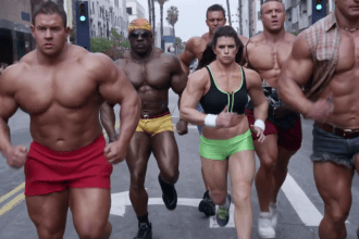 """2014 GoDaddy Super Bowl Commercial 'Bodybuilder"""" with Danica Patrick in a muscle suit"""