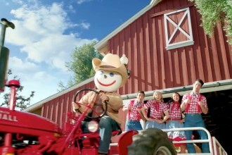 """Check out the Jack In The Box ad during the 2014 Super Bowl XLVIII featuring the Bacon Insider and discover a creature called a """"Bork"""" (pig-cow mash up)."""