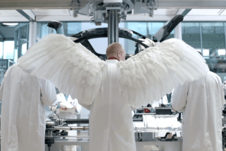 2014 VW Super Bowl ad - A father tells his daughter that every time a Volkswagen hits 100,000 miles, a German Engineer gets his wings.