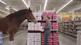 "2015 Budweiser Super Bowl Ad Clydesdale ""Beer Run"" #BestBuds"
