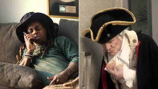 Watch Lil Wayne Chill With George Washington in Odd Super Bowl Ad – RollingStone.com