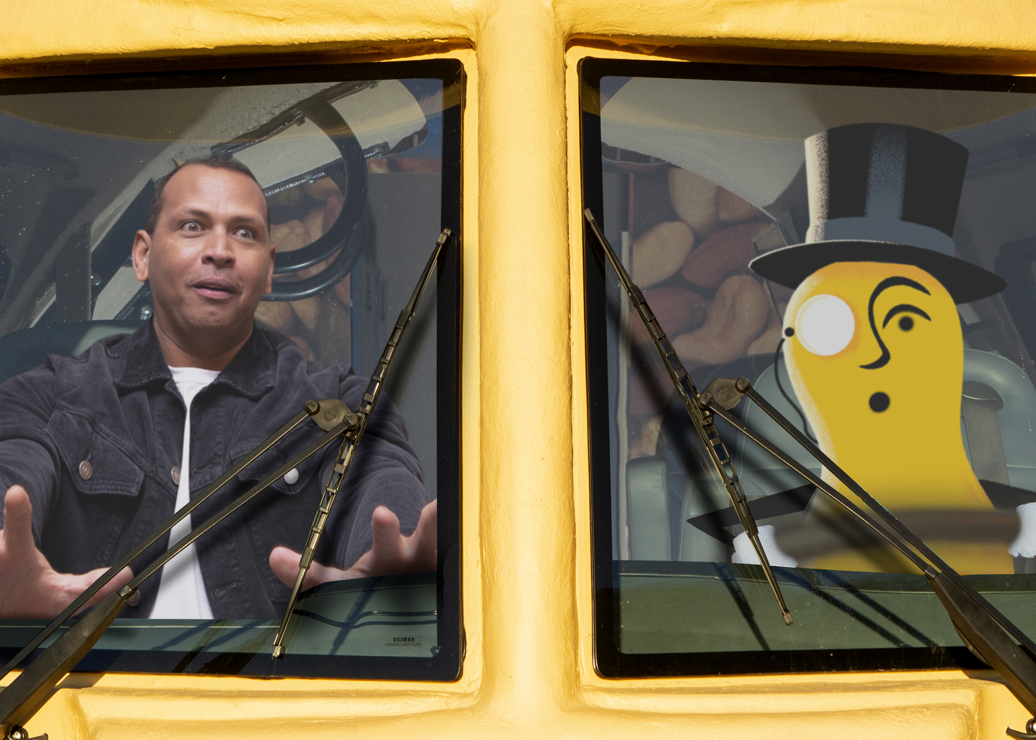 2019 Planters Super Bowl commercial with Mr. Peanut and Alex Rodriguez