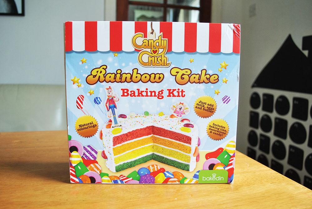 Candy Crush Rainbow cake Baking kit {Review}