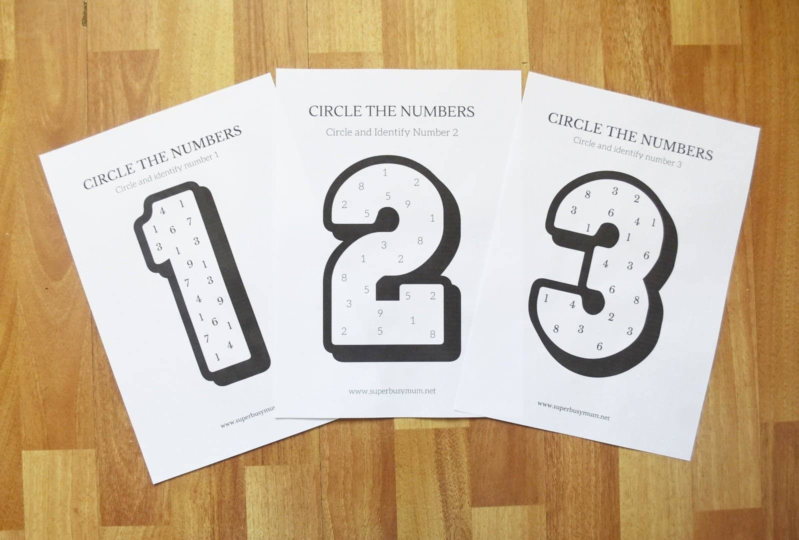 Number Recognition Worksheets Free Printables - Super Busy Mum
