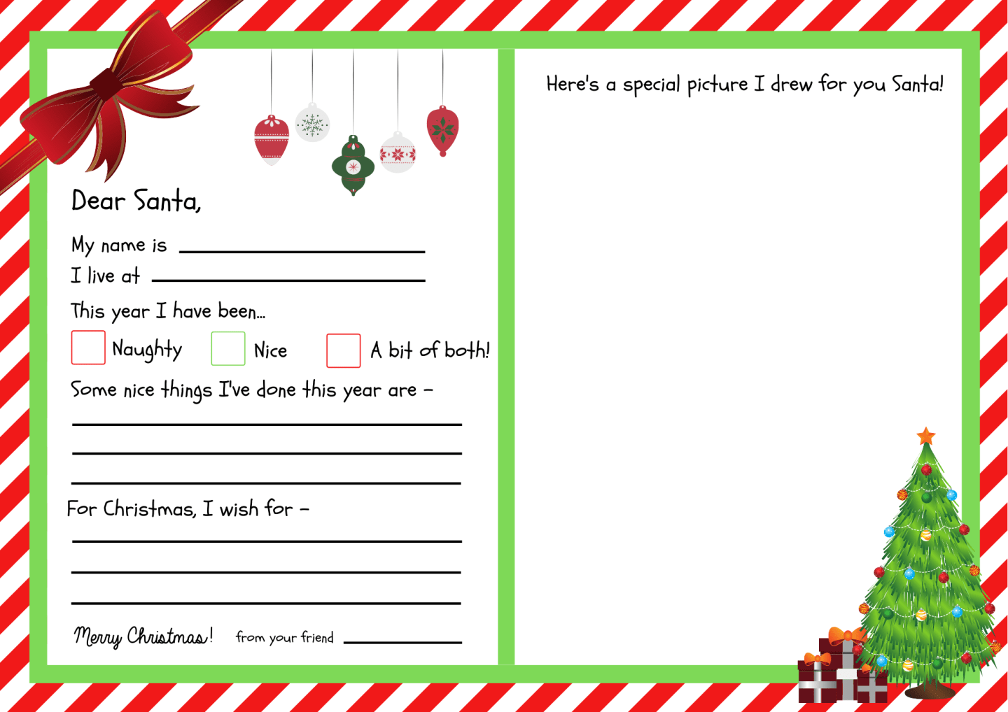 Letters To Santa Templates Free Printables Super Busy Mum