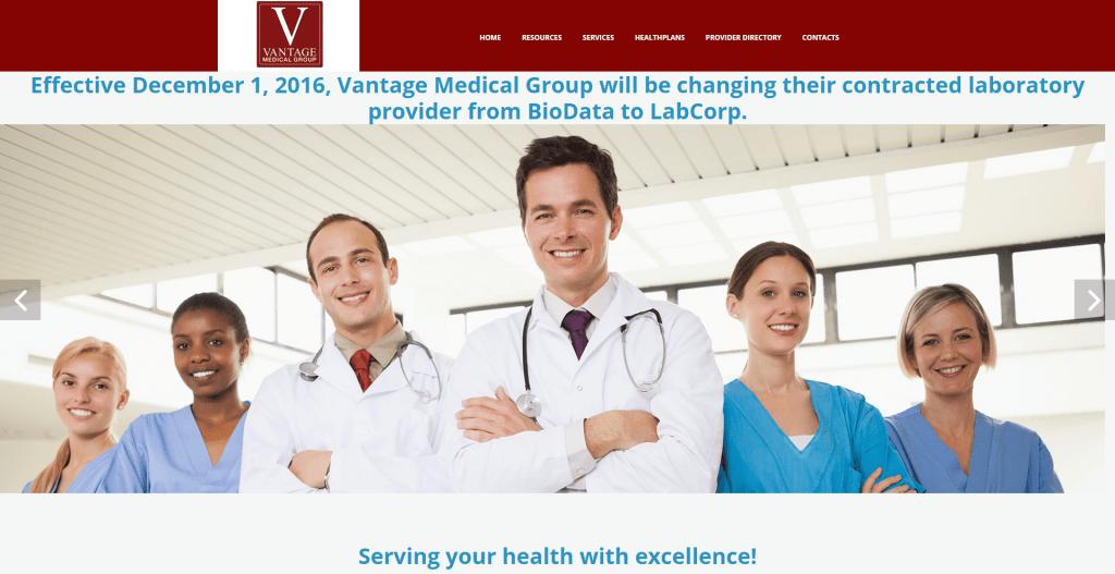 Vantage Medical Group homepage