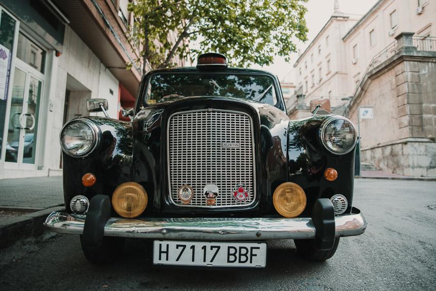 taxi ingles coche de boda