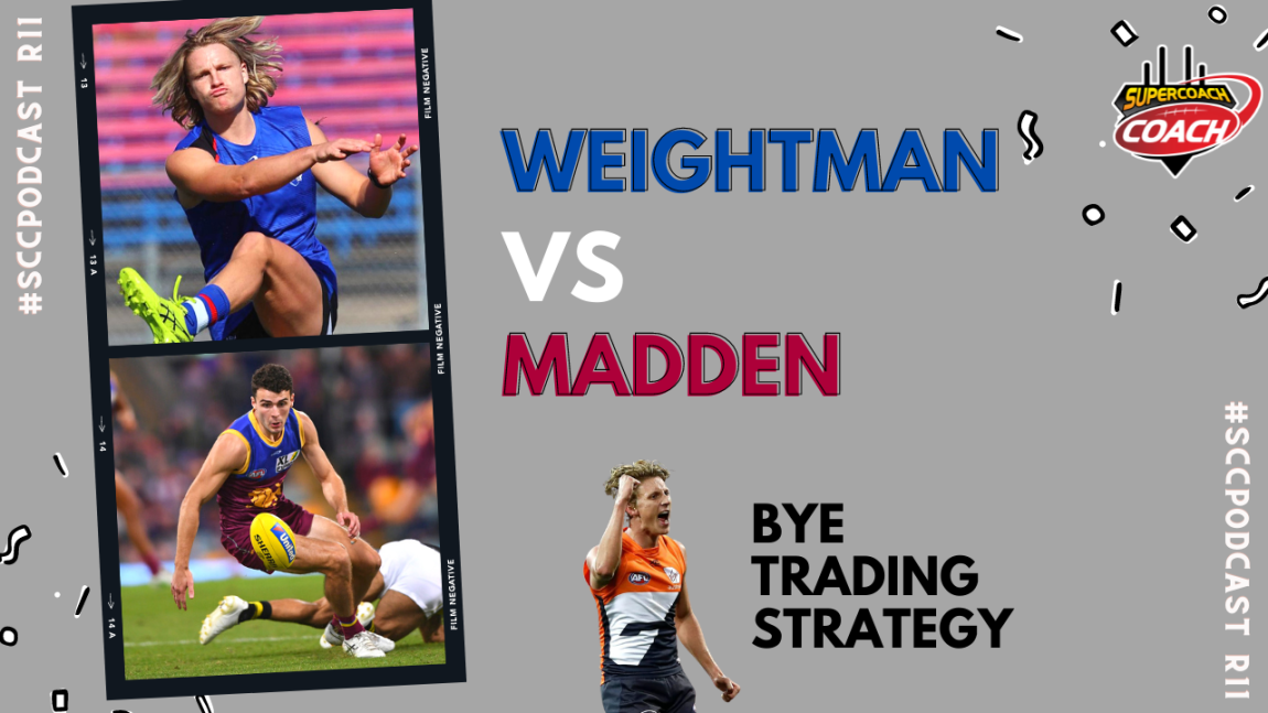 cody weightman james madden lachie whitfield afl supercoach bye trading strategy