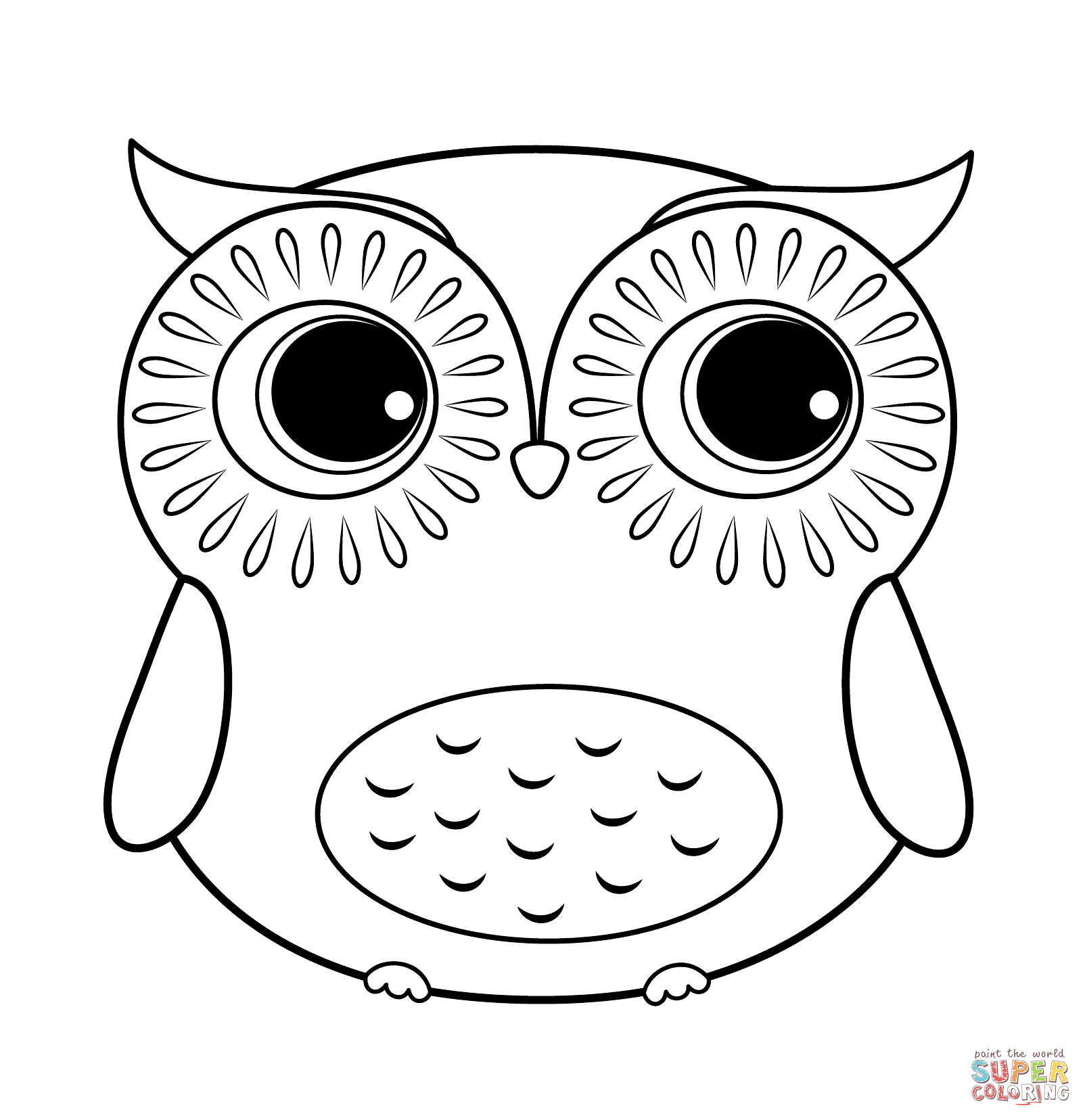 Printable Cute Owl Printable Owl Coloring Pages Novocom Top