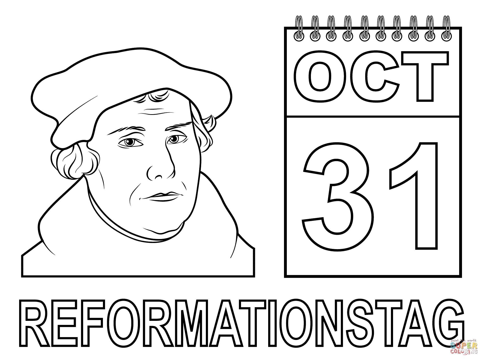 Ausmalbild Reformationstag