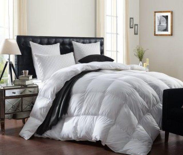 Luxurious Bedding 1200 Thread Count Goose Down Comforter Duvet Insert