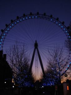The London Eye at sunset (March)