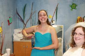 getting ready for my best friend Corinna's wedding (June)