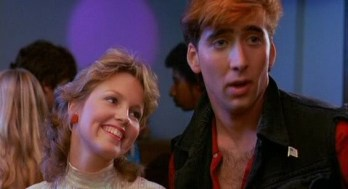 Nicholas Copp-uh, I mean Cage as Randy, and Debora Foreman as Julie.