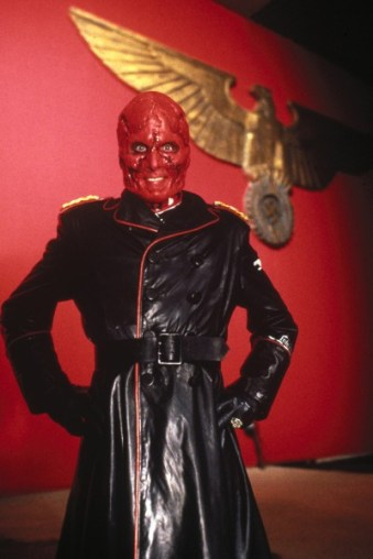 "Red Skull seen here posing for his ""Most Likely to Succeed"" yearbook photo."