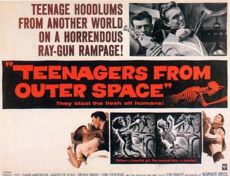 """Thrill-crazed space kids blasting the flesh off humans!"""
