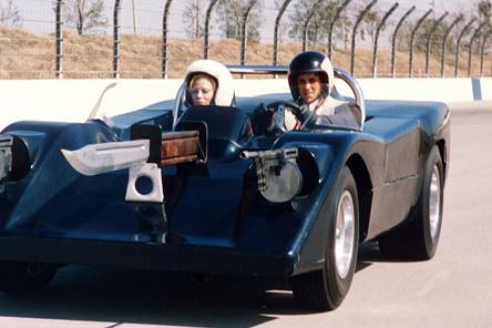 Frankenstein's car is based on a Chevrolet Corvette while many of the other vehicles are re-bodied Volkswagens.