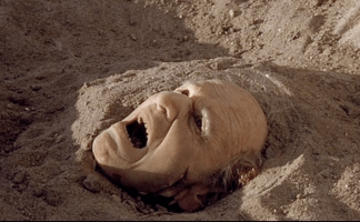 This is why I won't let people bury me in sand at the beach!