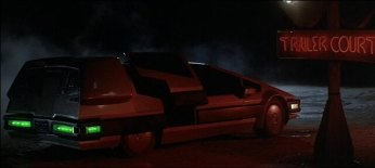 Here's the Star Car from the film. In this scene Centauri entices our hero into the backseat with promises of intergalactic adventure and candy...