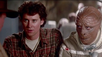 The Last Starfighter stars Lance Guest as Alex and Dan O'Herlehy as a dried up corn cob with eyes.
