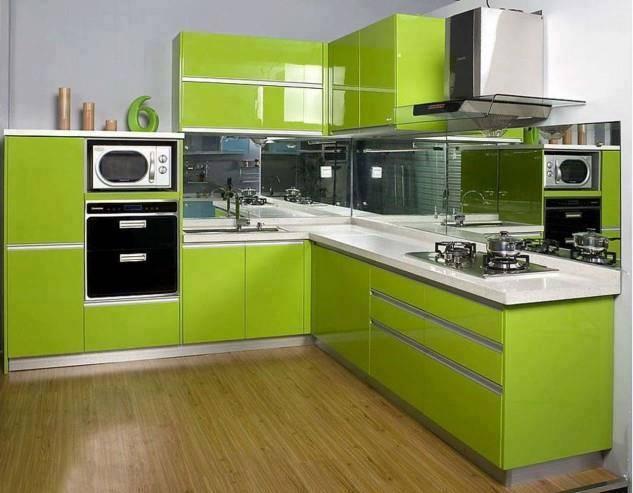 Combina alb si verde in bucatarie si vei avea o casa plina de viata