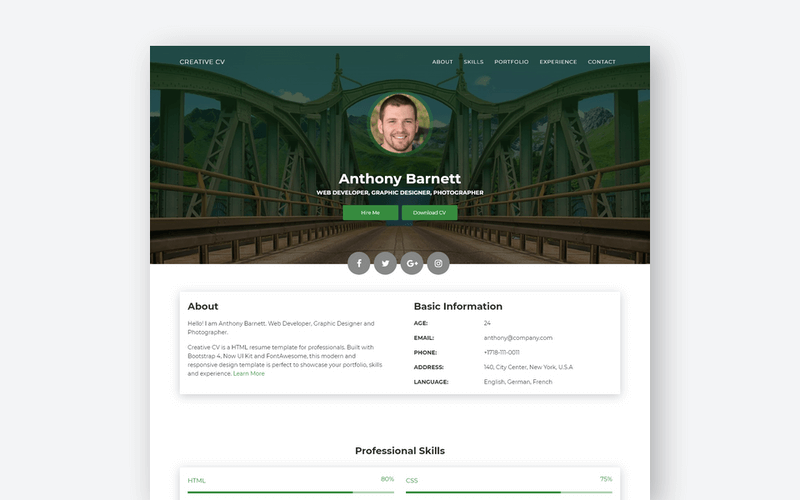 They helping the team understand performance targets and goals. 25 Professional Html Css Resume Templates For Free Download And Premium Super Dev Resources