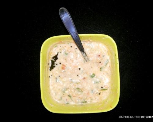 Thakkali Carrot Thayir pachadi