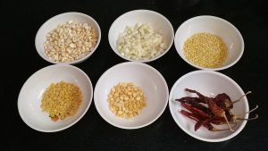 Garlic paruppu podi_ingredients