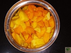 Maaza_Mango frooti_homemade_chopped mangoes