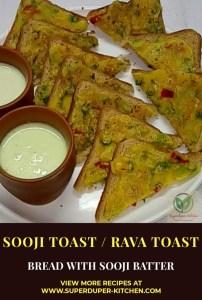 Sooji toast / Rava toast_pin