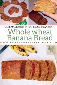 Eggless Whole wheat Banana bread_pin