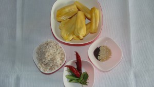 Jackfruit / Chakka Puzhukku_ingredients