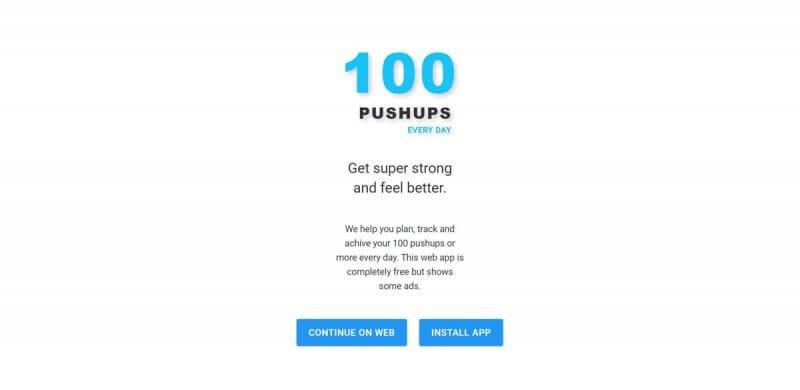 Spletna aplikacija 100-pushups.com
