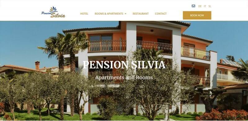 Spletna stran apartments-rooms-silvia.com