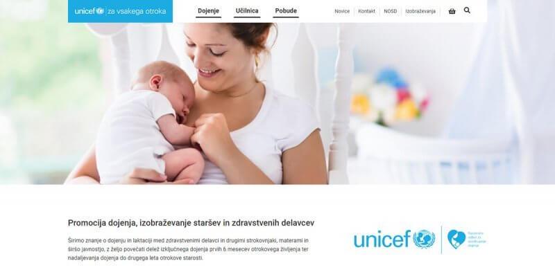 Spletna trgovina dojenje.unicef.si