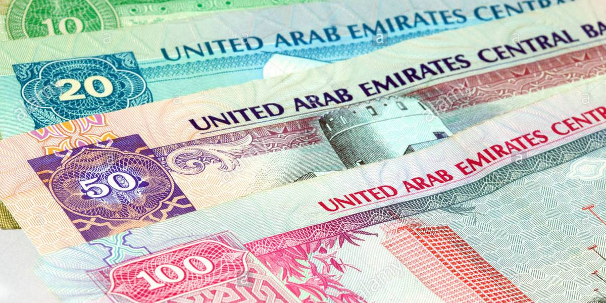 Counterfeit UAE Dirhams Banknotes