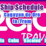 2Go Boat Schedule: Cagayan to Manila, Cebu, Iloilo, Bacolod & Vice Versa