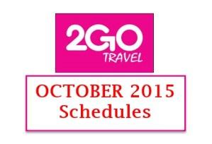 2Go Schedules October 2015 Manila to Nasipit Butuan