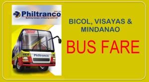 Philtranco Bus Fare and Ticket Prices