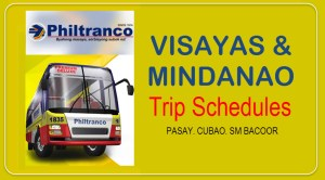 Philtranco RoRo Bus Schedule for Visayas and Mindanao Trips