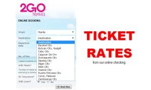 2Go Ticket Rates Manila to Bacolod, Ozamiz, Zamboanga, Dumaguete, Iloilo, Nasipit, Dipolog, CDO, Cebu, Iligan, Dumaguete