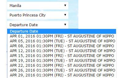 2go Schedule Manila to Puerto Princesa